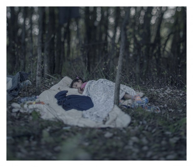 EXCLUSIVE, SPECIAL FEES APPLY. Must Credit - Magnus Wennman/Rex Mandatory Credit: Photo by Must Credit - Magnus Wen/REX Shutterstock (2853832n) Lamar, 5, sleeping on the ground in Horgos, Serbia Magnus Wennman: Where the children Sleep - 27 Sep 2015 Back home in Baghdad the dolls, the toy train, and the ball are left; Lamar often talks about these items when home is mentioned. The bomb changed everything. The family was on its way to buy food when it was dropped close to their house. It was not possible to live there anymore, says Lamar's grandmother, Sara. After two attempts to cross the sea from Turkey in a small, rubber boat they succeeded in coming here to Hungary's closed border. Now Lamar sleeps on a blanket in the forest, scared, frozen, and sad.