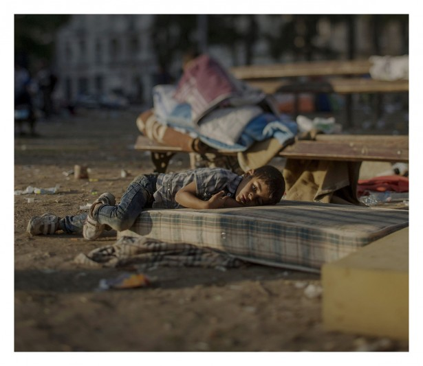 EXCLUSIVE, SPECIAL FEES APPLY. Must Credit - Magnus Wennman/Rex Mandatory Credit: Photo by Must Credit - Magnus Wen/REX Shutterstock (2853832a) Abdullah, 5, sleeping outside a railway station in Belgrade, Serbia Magnus Wennman: Where the children Sleep - 27 Sep 2015 Abdullah has a blood disease. For the last two days he has been sleeping outside of the central station in Belgrade. He saw the killing of his sister in their home in Daraa. He is still in shock and has nightmares every night, says his mother. Abdullah is tired and is not healthy, but his mother does not have any money to buy medicine for him.
