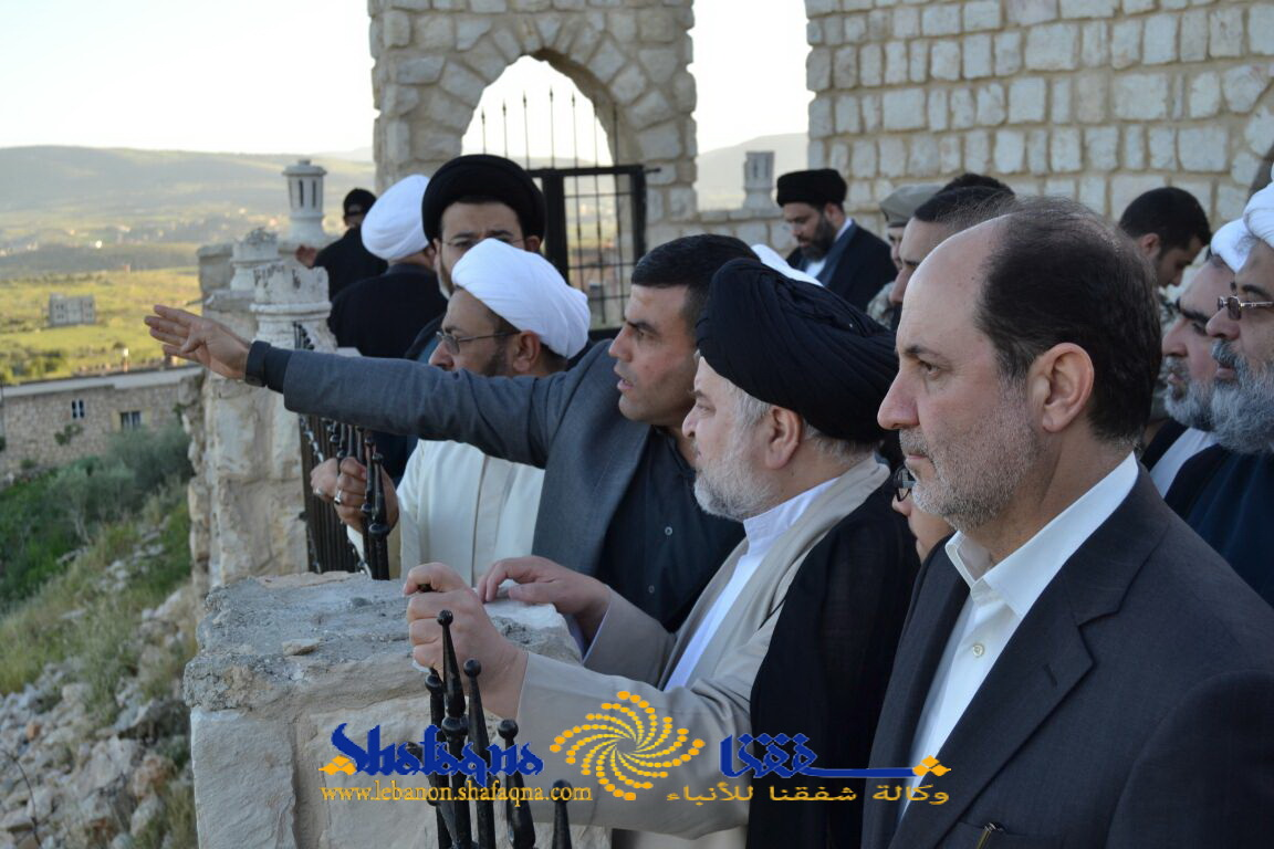 بلده سفر حجت الاسلام و همچنین المسلمین شهرستانی به شهرستان «میس الجبل» و همچنین بازدید از حوزه علمیه اهل بیت(ع) + تصاویر