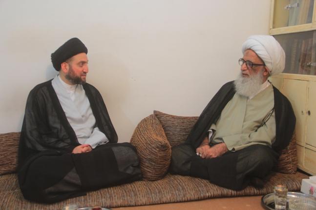 عراقی حضرت آیت الله نجفی در دیدار عمار الحکیم: منافع عمومی بر هر منفعت غیره ای ارجحیت دارد