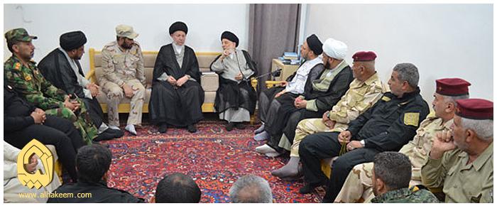 مبارزان توصیه های حضرت آیت الله حکیم به مبارزان عراقی: هشیار باشید و همچنین  به رسانه های غرض ورز مجال ندهید