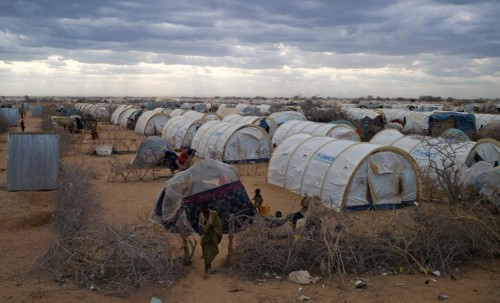 A general view shows the tented settlement near the Ifo 2 refugee camp in Dadaab, near the Kenya-Somalia border, August 29, 2011.   REUTERS/Eduardo De Francisco