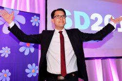 رهبر حزب دموکراسی سوئد