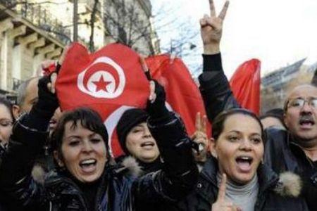 فریاد اعتراض تونسی ها مقابل مجلس این کشور