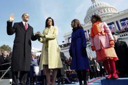 U.S. President Barack Obama takes the Oath of Office in Washington