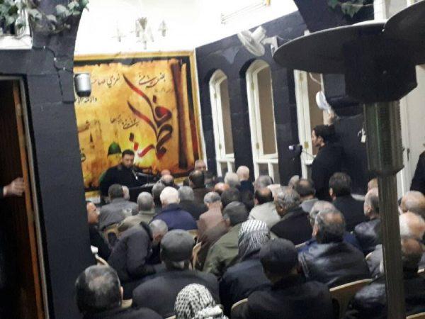 02 26 تصاویر: نمایش مراسم شهادت حضرت زهرا (س) از سوی بیت حضرت آیتالله حکیم در دمشق