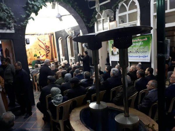 06 6 تصاویر: نمایش مراسم شهادت حضرت زهرا (س) از سوی بیت حضرت آیتالله حکیم در دمشق