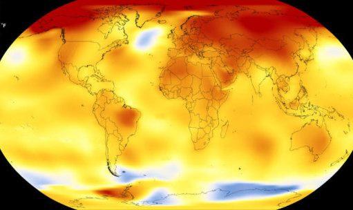 ۲۰۱۷ دومین سال گرم جهان از سال ۱۸۸۰