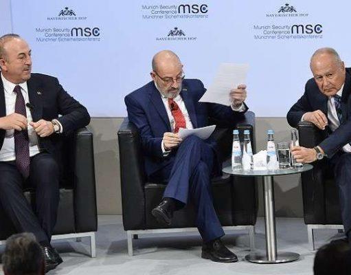 جدال لفظی میان ترکیه و اتحادیه عرب در کنفرانس امنیتی مونیخ