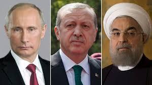 روسای جمهور روسیه، ایران و ترکیه  آوریل آینده دیدار می کنند