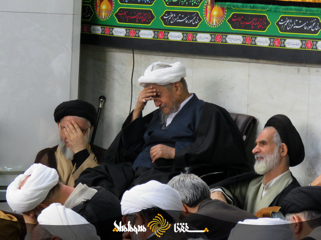 %name مراسم عزاداری روز شهادت حضرت زهرا در دفتر حضرت آیت الله صانعی