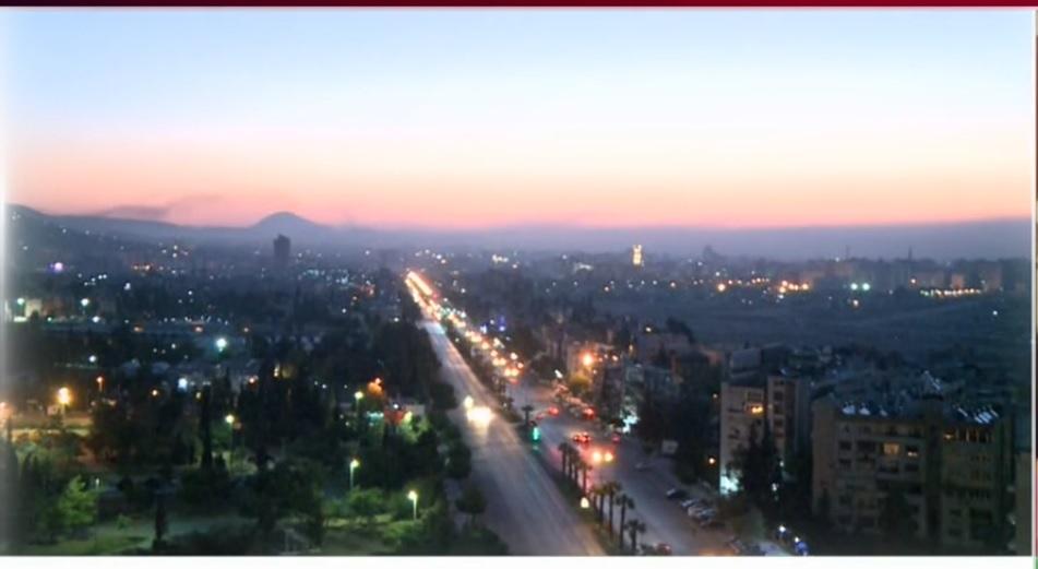 دمشق لحظاتی پس از تچاوز موشکی آمریکا و متحدانش