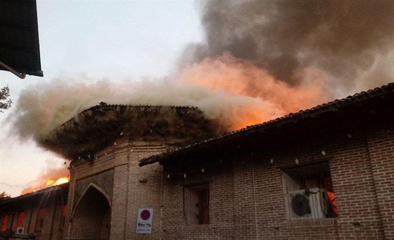 Image result for مسجد جامع ساری در آتش سوخت