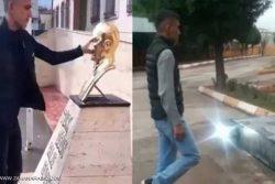 مجازات عجیب جوان ترک پس از اهانت به آتاتورک+ عکس
