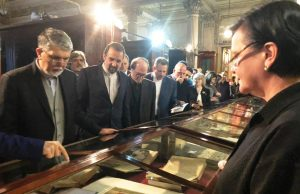 وزیر فرهنگ از انستیتو شرق شناسی سن پترزبورگ بازدید کرد