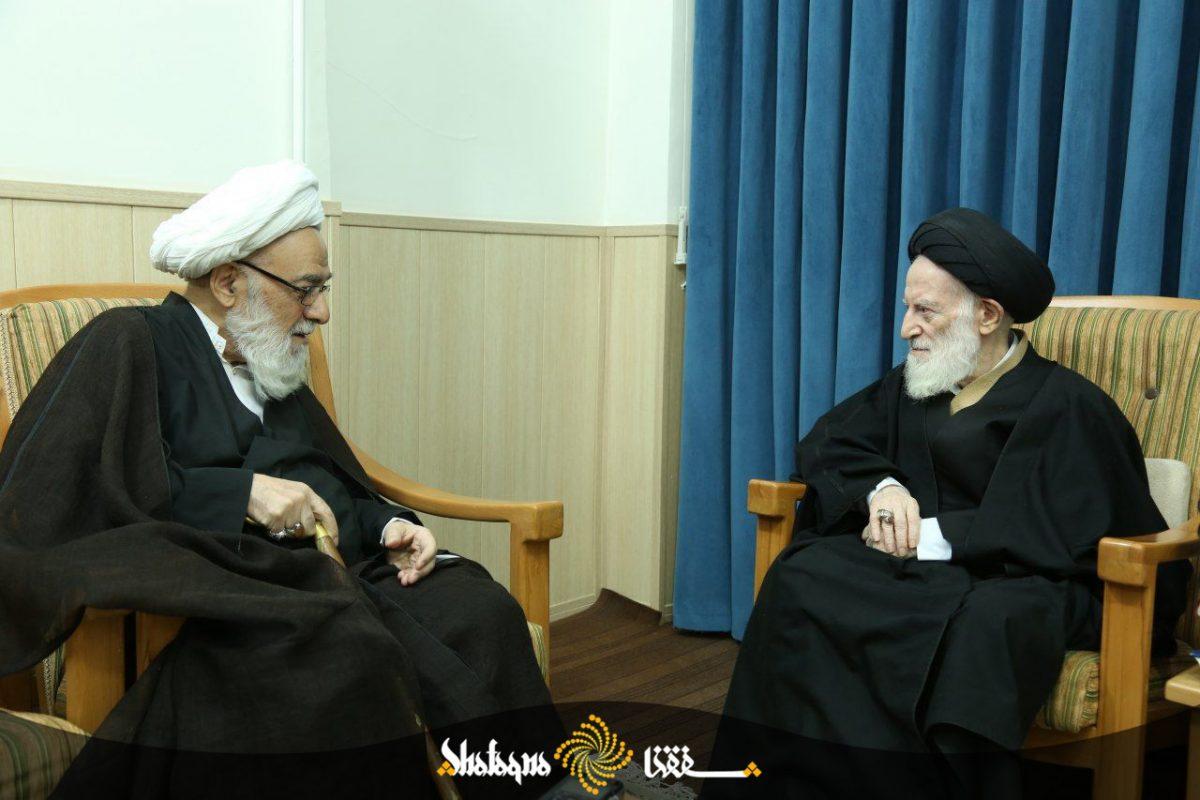%name دیدار آیتالله گرامی با آیت الله شبیری زنجانی