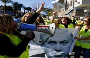 اعتراض جلیقه زردها به تل آویو هم رسید/ اعتراض به گرانی و مافیا خواندن کابینه نتانیاهو + فیلم