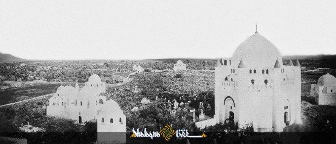 قبرستان بقیع پیش از آن که توسط وهابیان تخریب شود