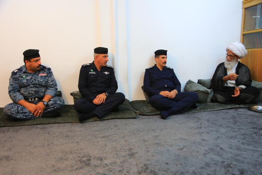 %name دیدار رئیس پلیس جدید نجف اشرف با حضرت آیت الله بشیر نجفی