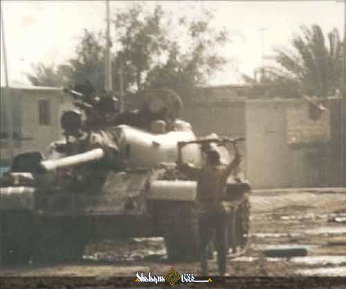 تانک مصادره شده از سوى نیروهاى انقلابى