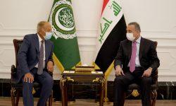 الکاظمی در دیدار دبیرکل اتحادیه عرب: لازم است کشورهای عربی روی پای خود بایستند
